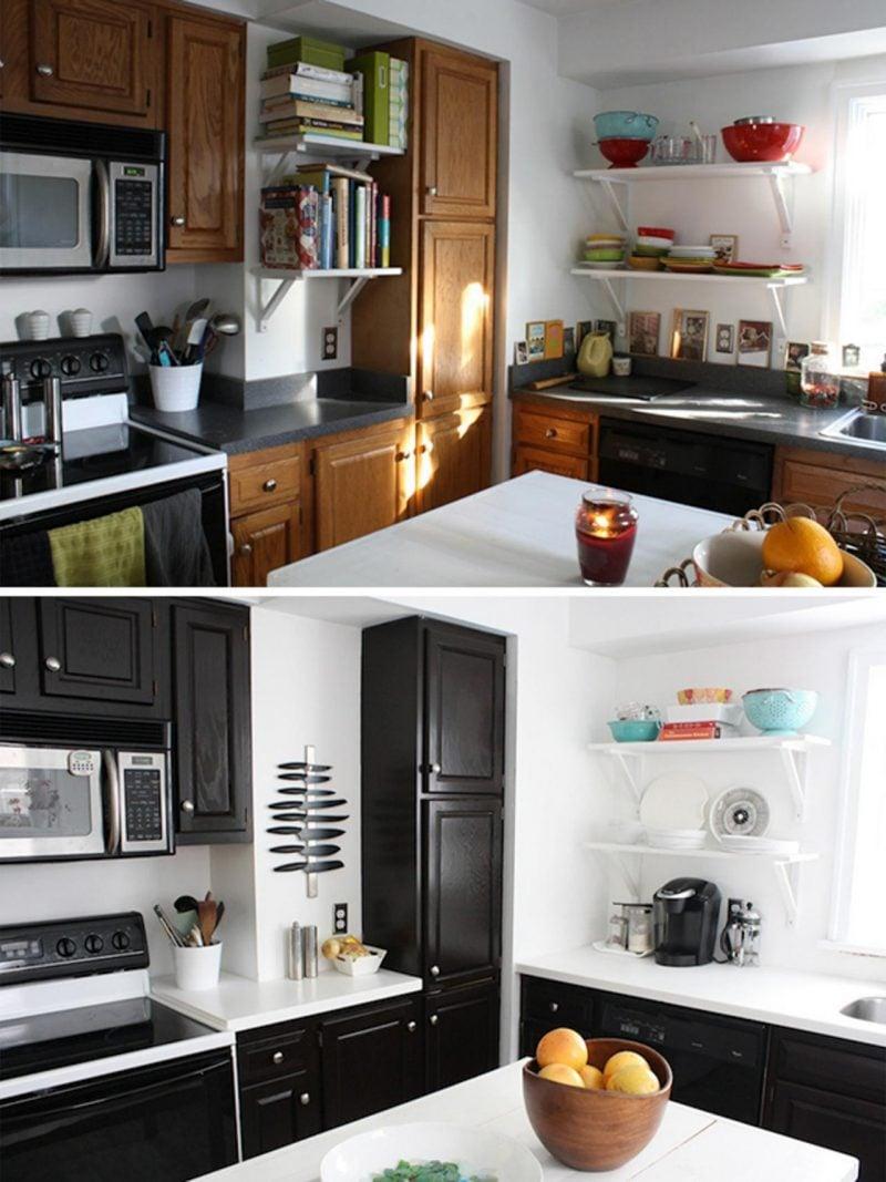 küchenfronten austauschen schwarz