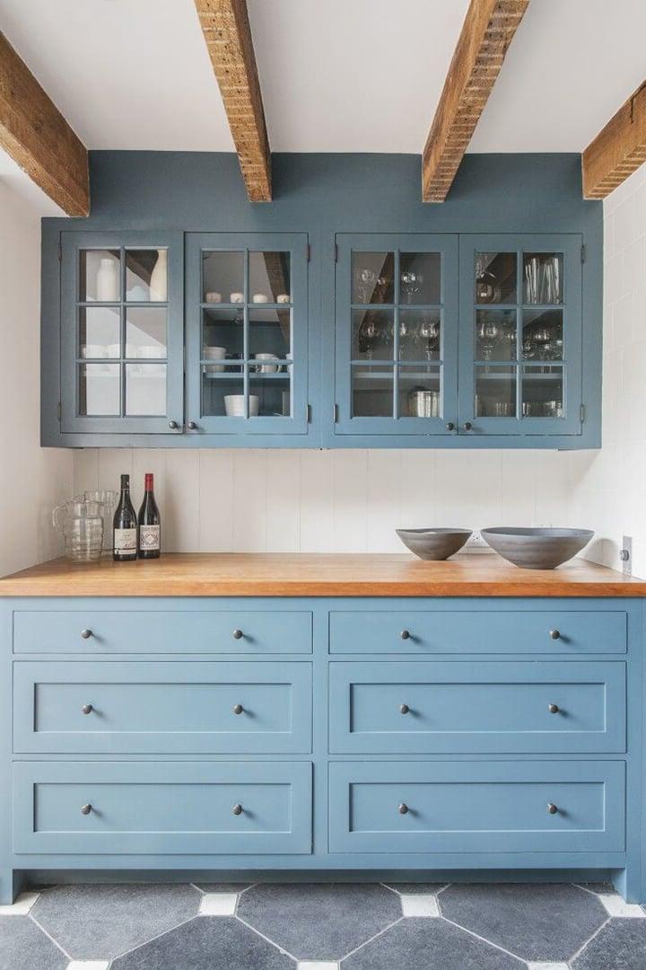 küchenfronten austauschen blau