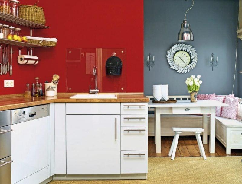 küchenwandgestaltung rot