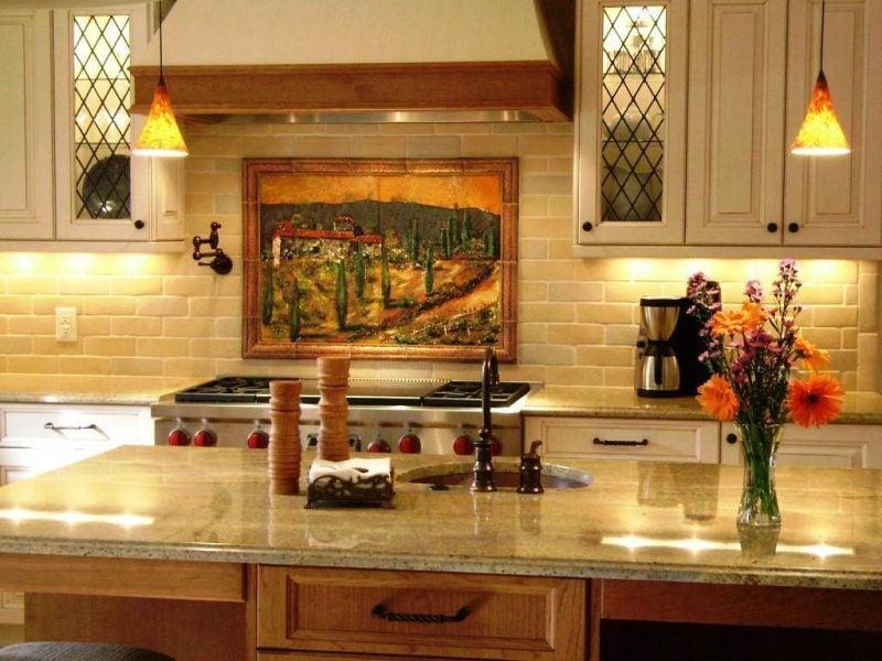 küchenwandgestaltung retro