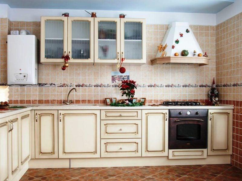 küchenwandgestaltung vintage