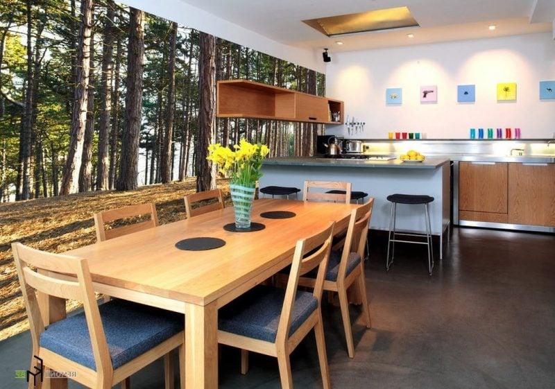 küchenwandgestaltung fototapete