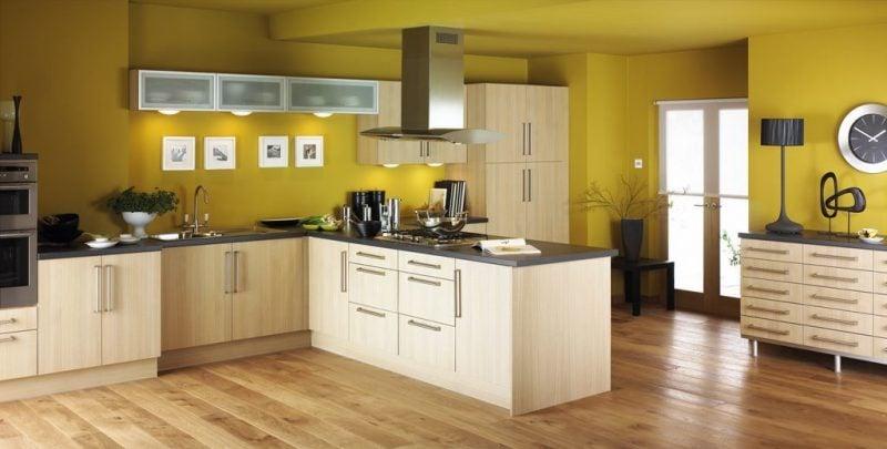 küchenwandgestaltung gelb