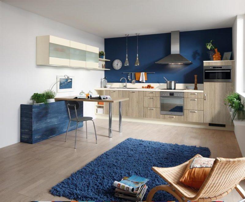 küchenwandgestaltung blau