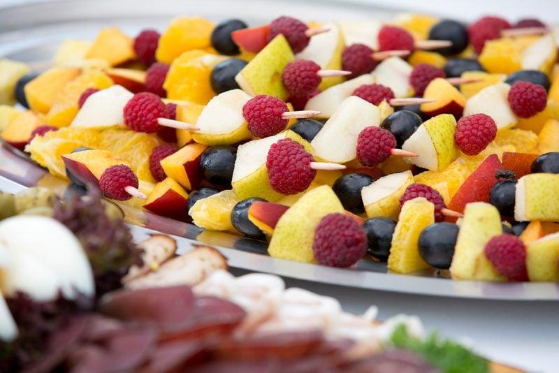 Kalte Platten Obst Idee