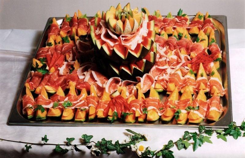 Kalte Platten Parmaschinken Melone