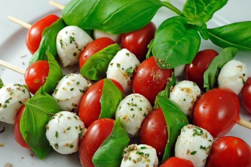 Kalte Platten Mozarella Tomaten