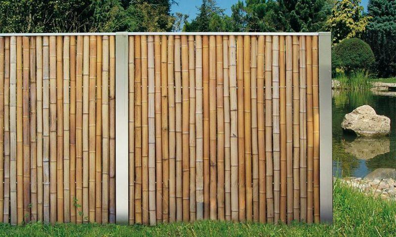 Bambuszaun klassischer Look
