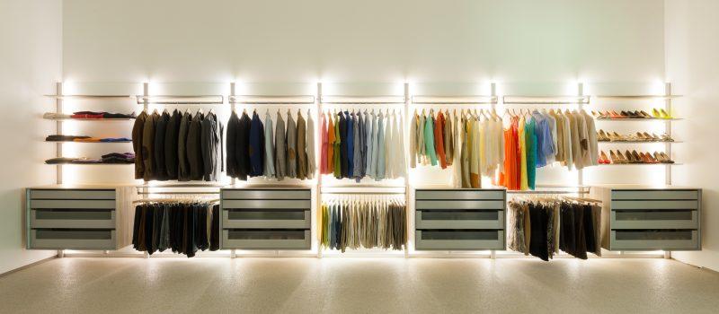 Kleiderschranksysteme mit Beleuchtung