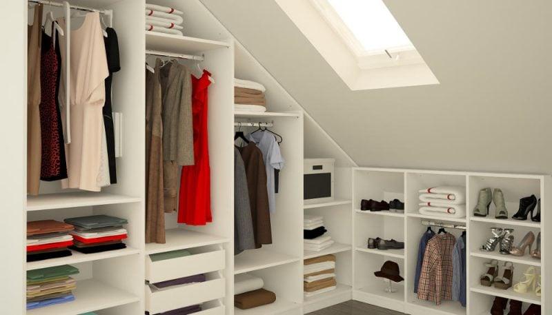 Kleiderschranksysteme Dachschraege