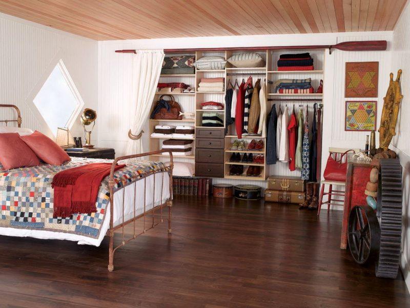 Kleiderschranksysteme mit Vorhang