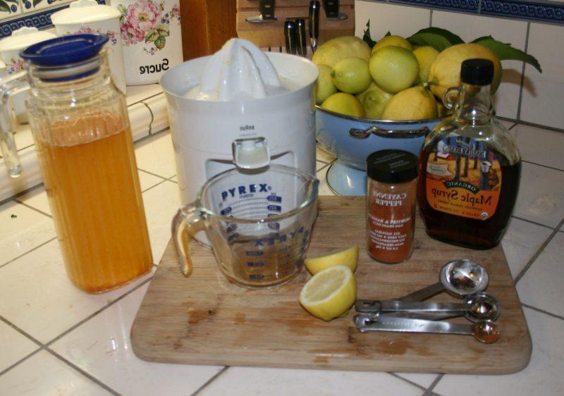 Körperentgiftung Zitronensaft