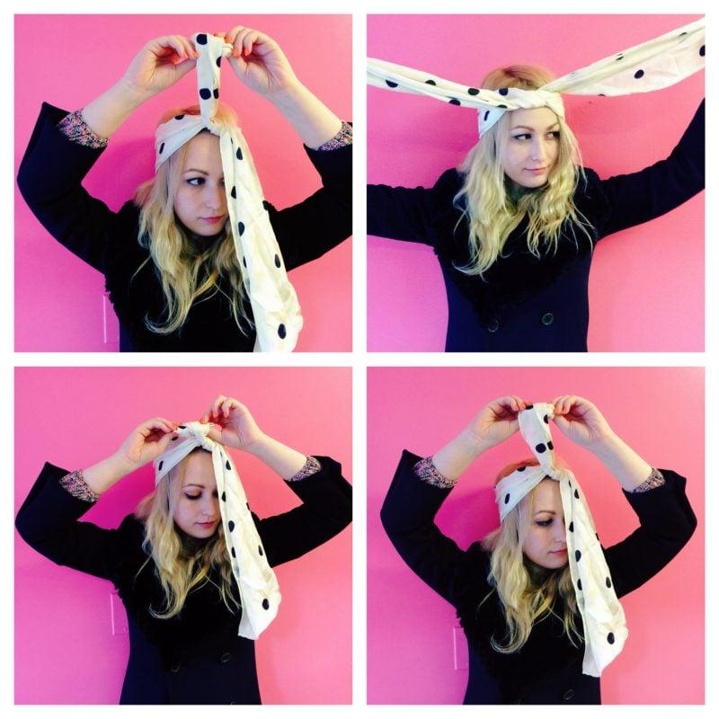 Kopftuch binden Schritte Kopftücher binden