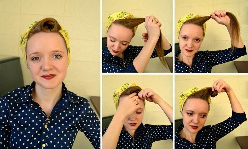 Kopftuch binden Frisur kopftücher binden