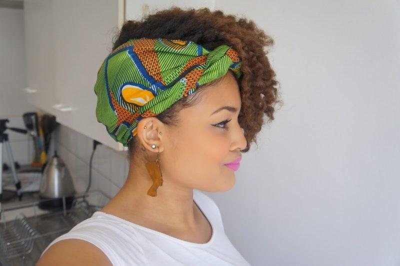Kopftuch binden Haarstil