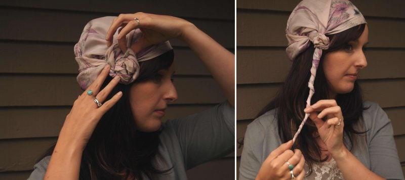 Kopftuch binden Knoten