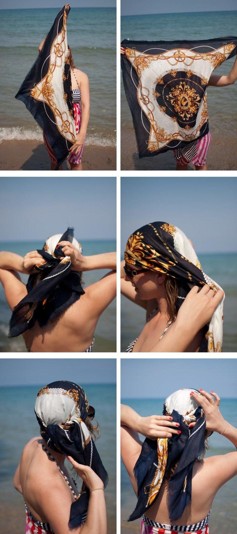 Kopftuch binden Sommer Outfit