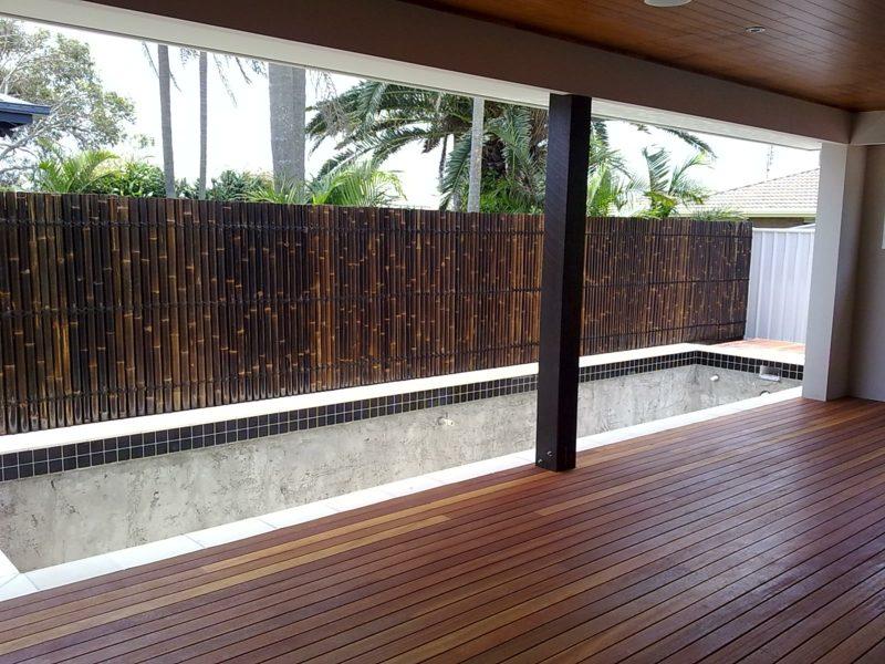 Zaun aus Bambus Designideen