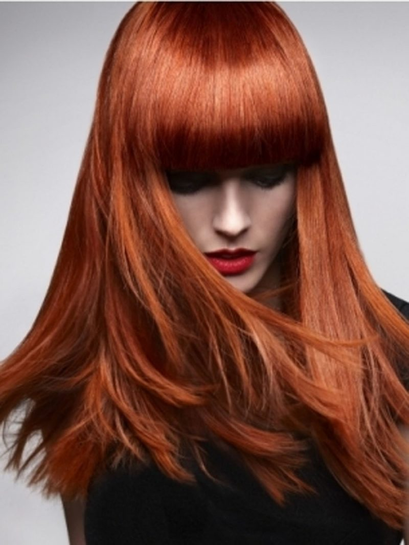 Intense Red Copper Hair Color