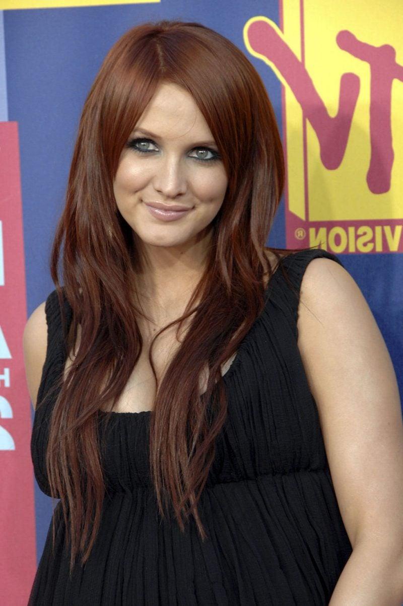 Kupferbraun Haarfarbe Stars