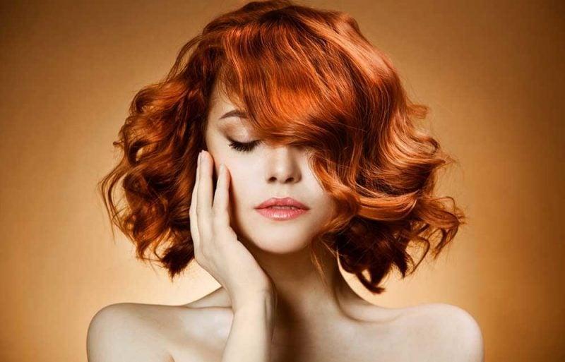 Kupferbraun Haarfarbe Intensivrot
