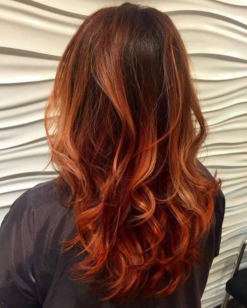 Kupferbraun Haarfarbe Ombre