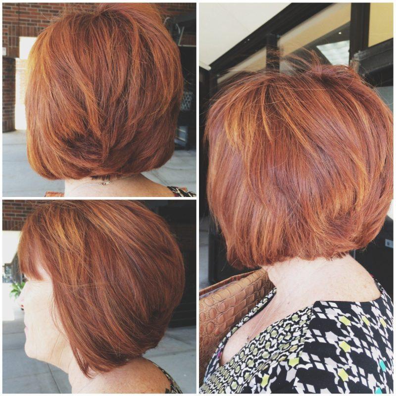 Trend 2016 ist kupferbraun haarfarbe 36 frisuren - Bob silberblond ...