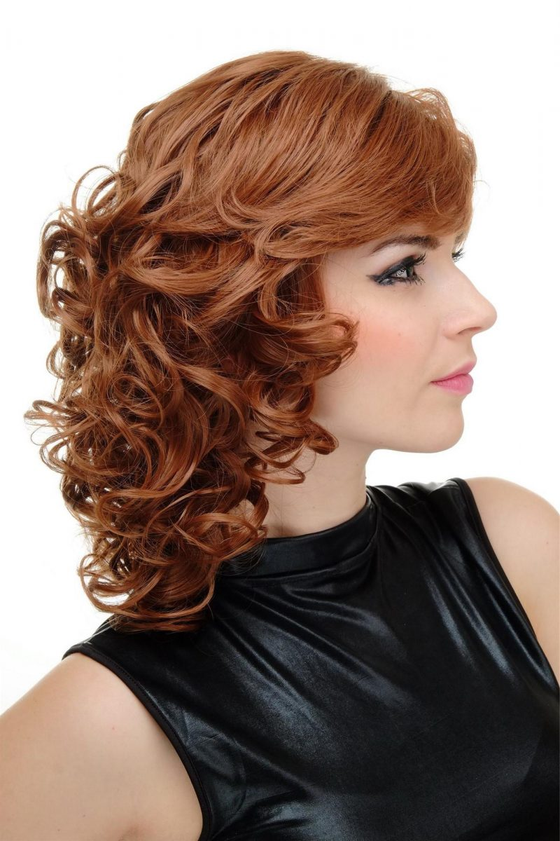 Kupferbraun Haarfarbe Locken