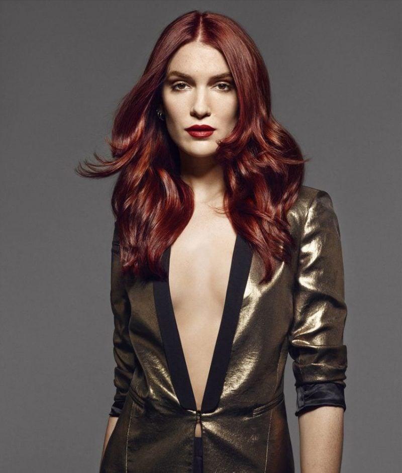 Kupferbraun Haarfarbe Dunkelrot