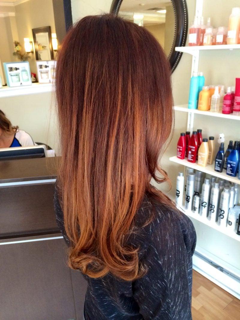 Kupferbraun Haarfarbe Stil