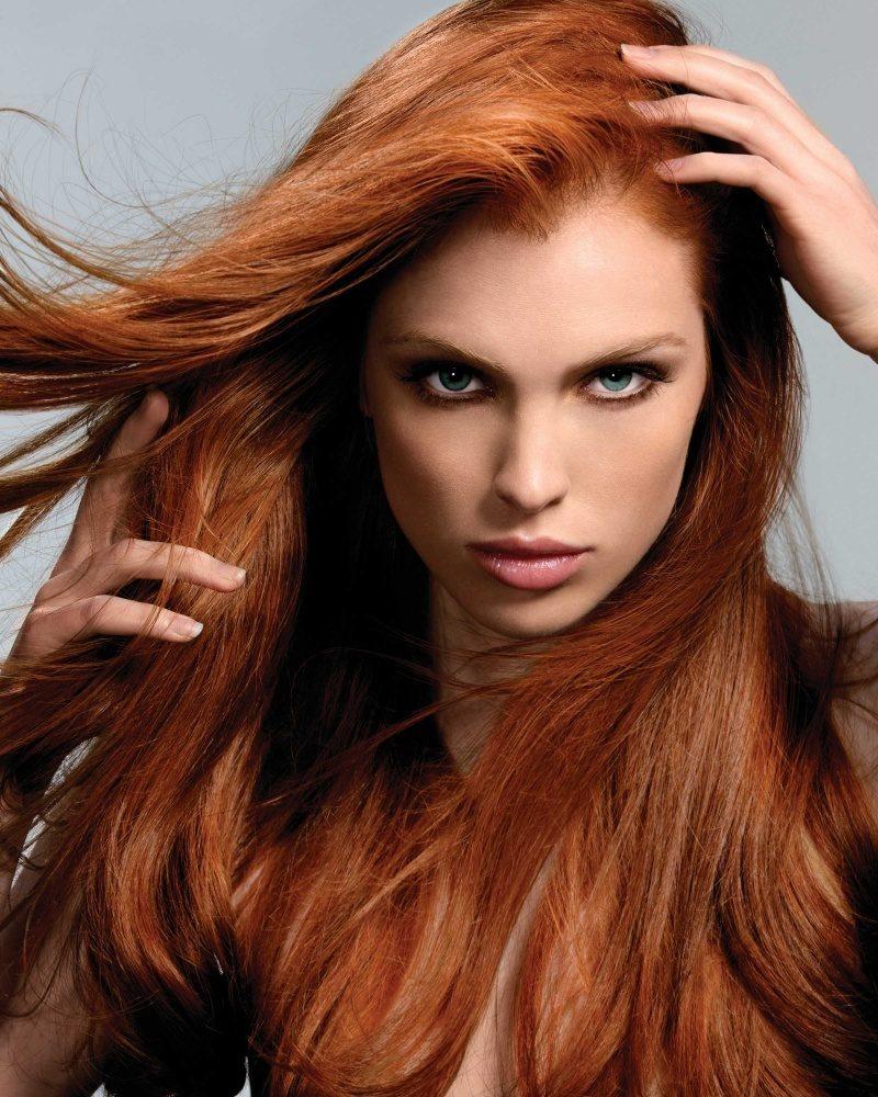 Kupferbraun Haarfarbe Rot