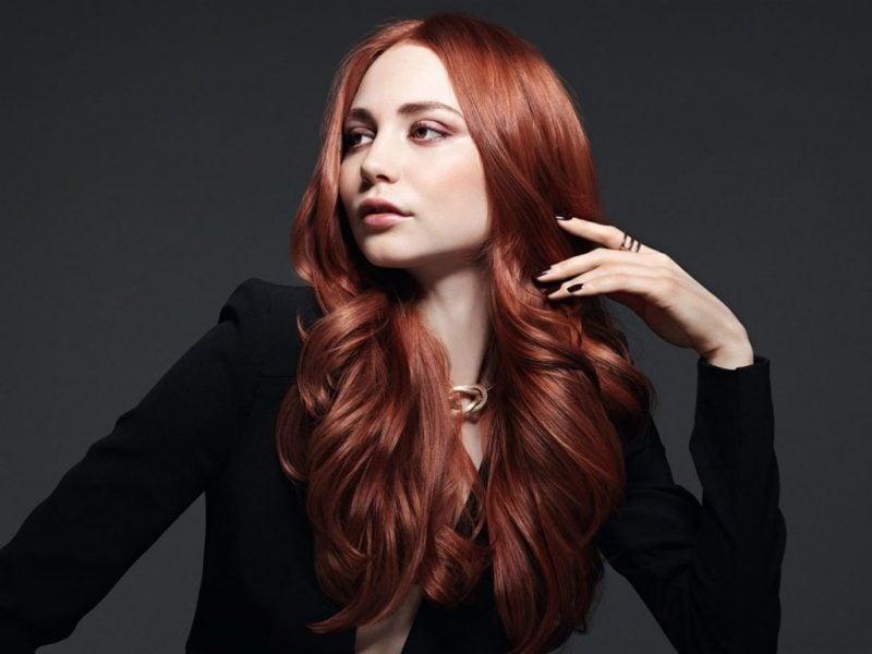 Kupferbraun Haarfarbe Modern