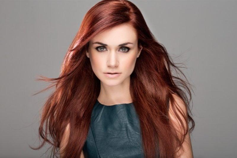 Kupferbraun Haarfarbe Trend 2016