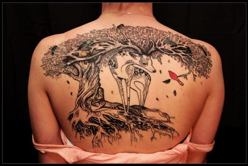 Lebensbaum Tattoo Design