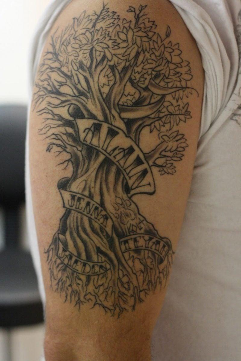 Lebensbaum Tattoo Idee