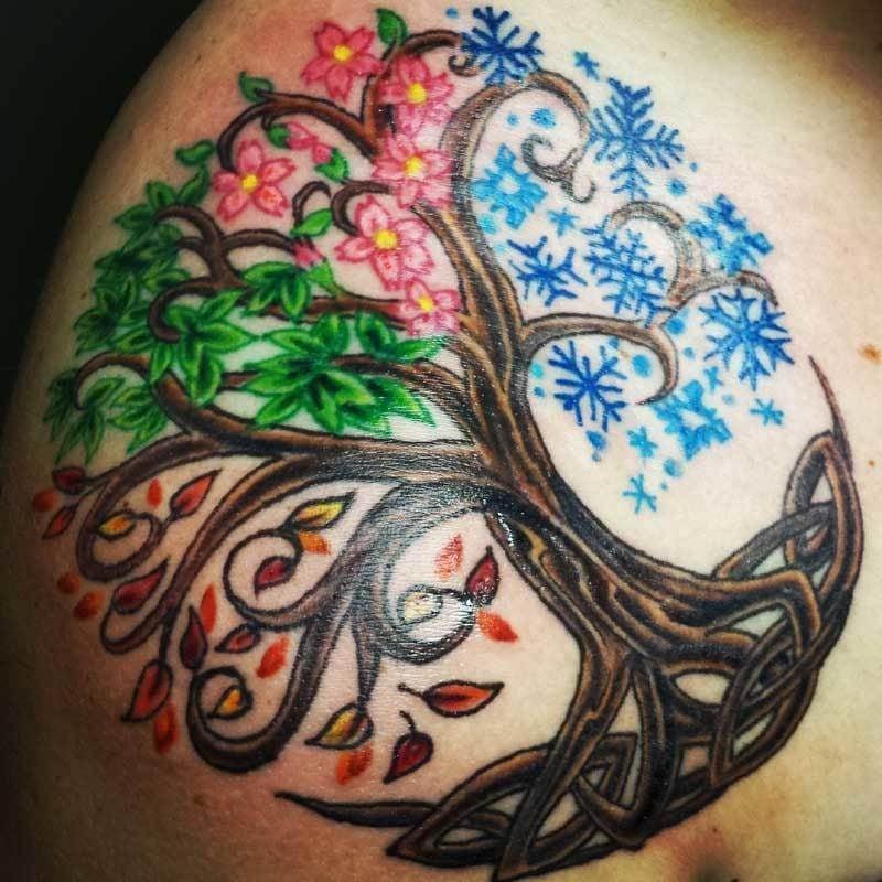 Lebensbaum Tattoo keltisch