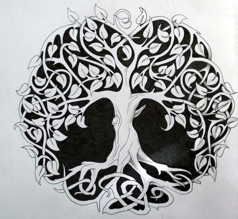 Lebensbaum Tattoo Keltische Vorlage