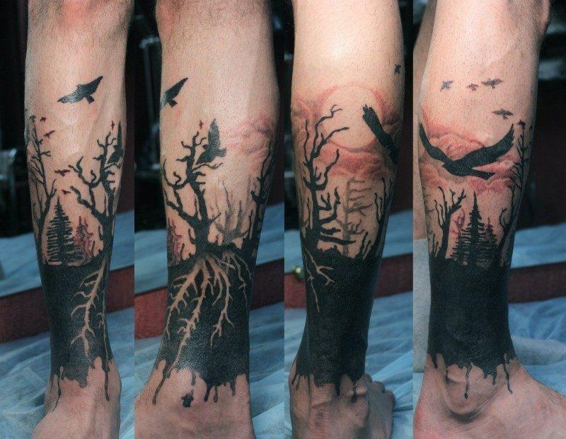 Lebensbaum Tattoo Dunkel