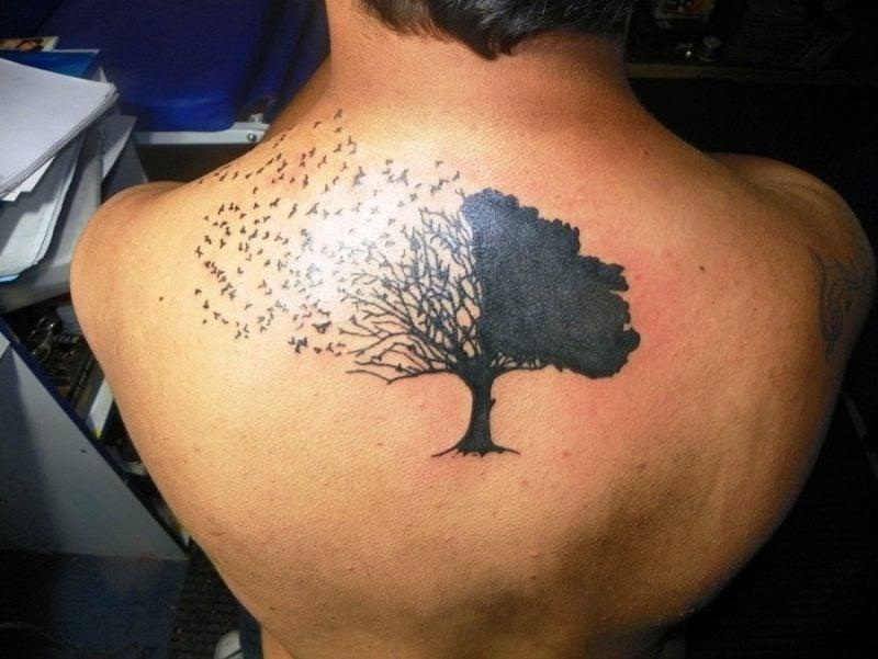Lebensbaum Tattoo Vögel