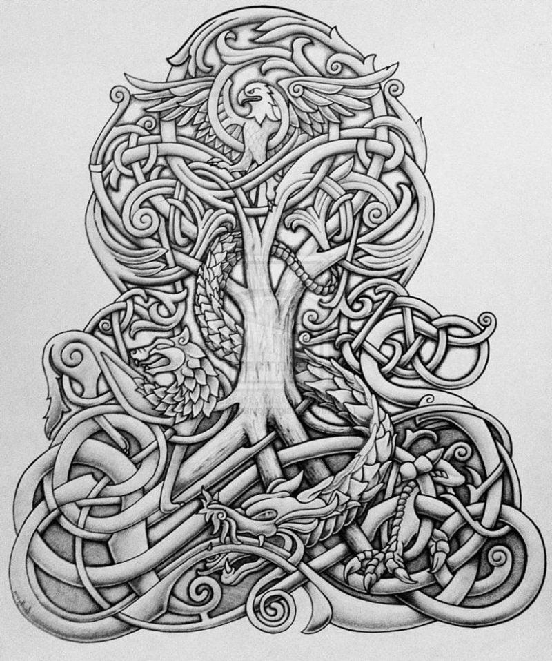 tattoo ideen 50 ideen f r lebensbaum tattoo tattoos. Black Bedroom Furniture Sets. Home Design Ideas