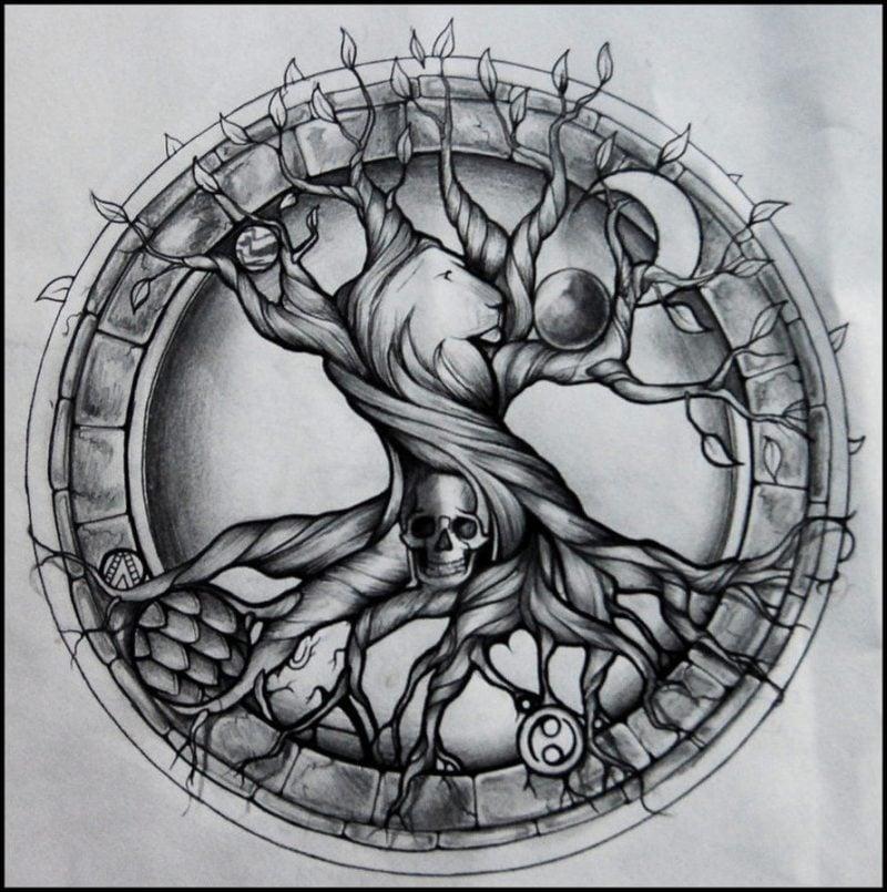 Lebensbaum Tattoo Vorlagen
