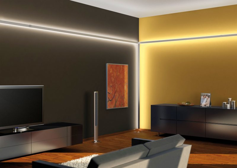 led indirekte beleuchtung. Black Bedroom Furniture Sets. Home Design Ideas