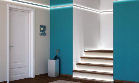 moderne led treppenbeleuchtung