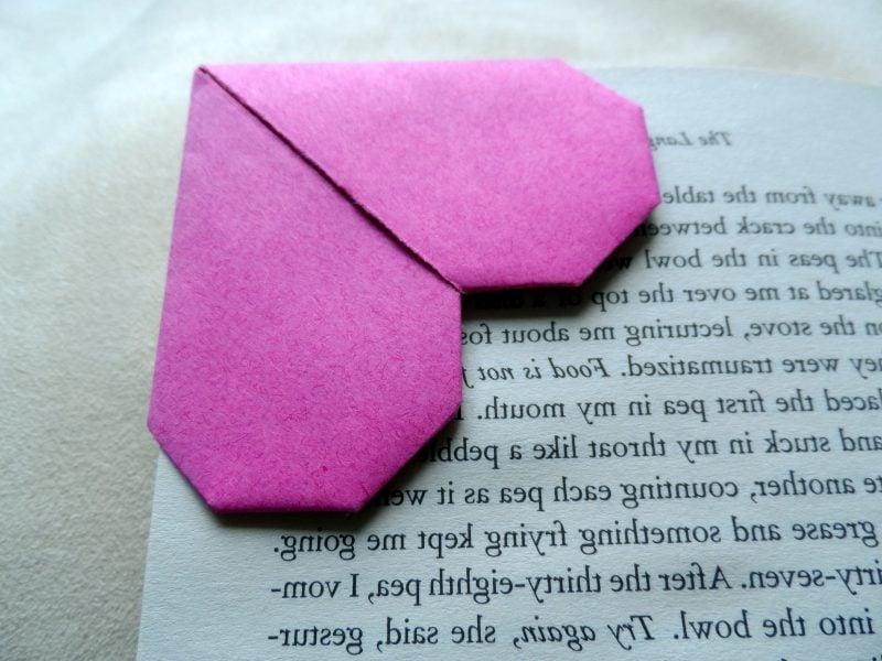 Lesezeichen selber machen Herz