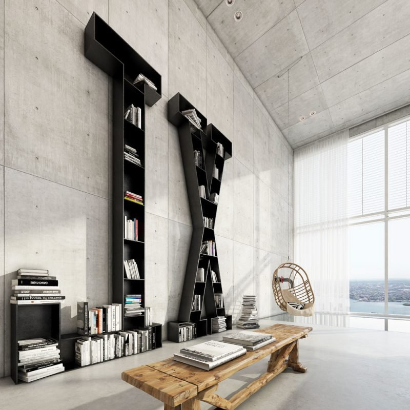wohnen im loft 35 inspirationen f r loft m bel. Black Bedroom Furniture Sets. Home Design Ideas