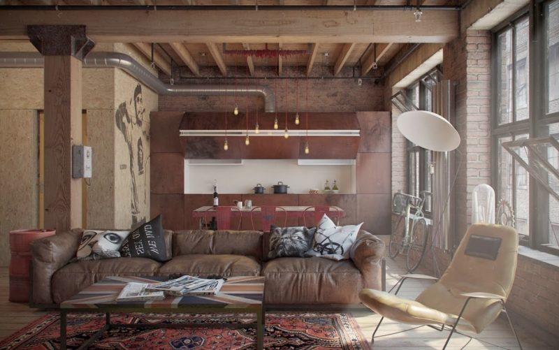 Loft Möbel aus Leder