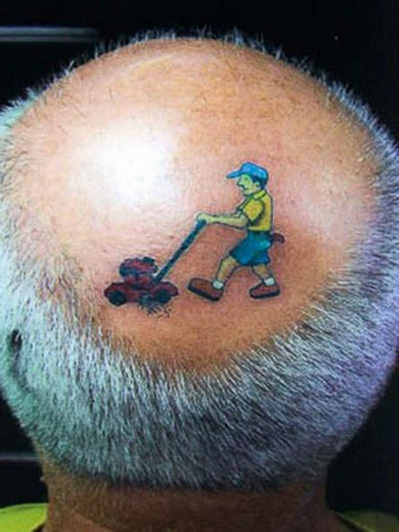 lustige Tattoos Grass