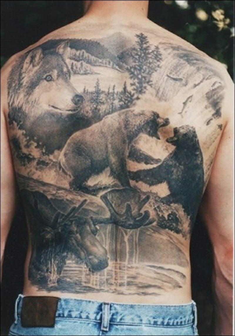 lustige Tattoos Wildlife