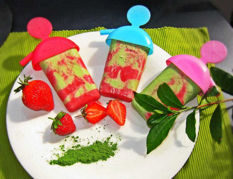 Matcha Rezepte Eis am Stiel