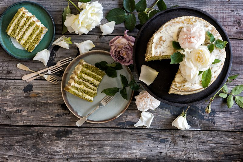Matcha Rezepte leckere Torte